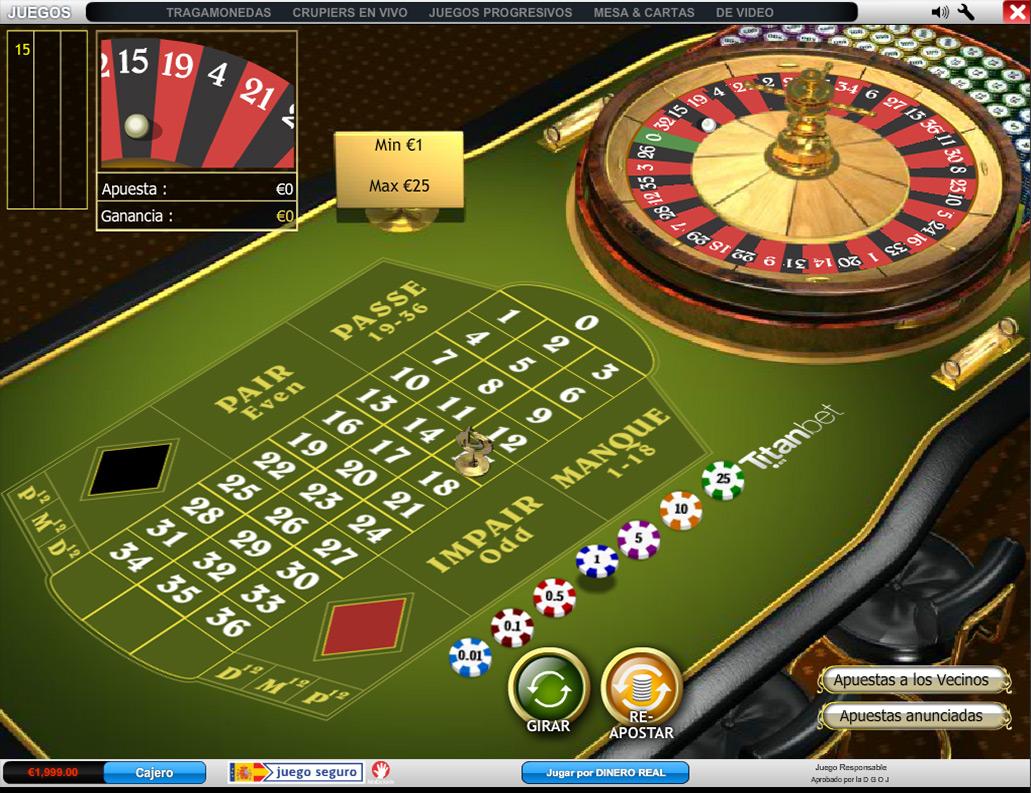 juegos de mesa ruleta